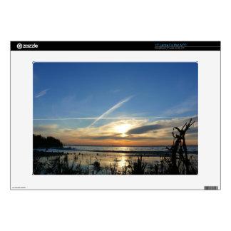 "Sunrise at the lake 15"" laptop decal"