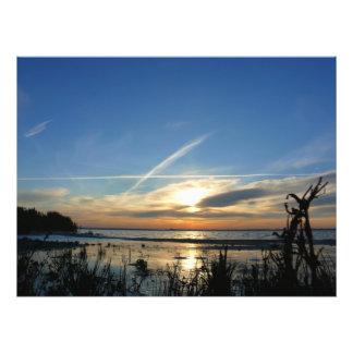 Sunrise at the lake cojinete