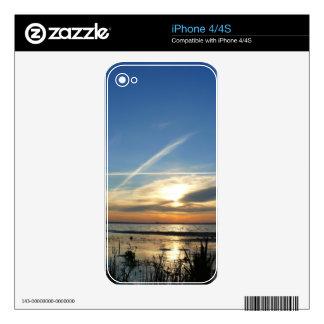 Sunrise at the lake iPhone 4S skin