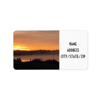 """SUNRISE AT THE LAKE"" RETURN ADDRESS LABLES LABEL"