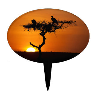 Sunrise at the Masai Mara, Kenya Cake Topper