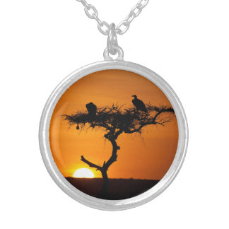 Sunrise at the Masai Mara, Kenya Custom Necklace
