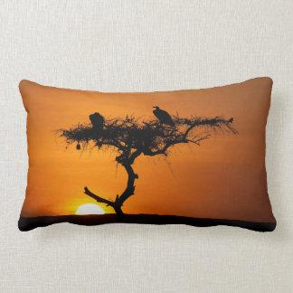 Sunrise at the Masai Mara, Kenya Throw Pillow