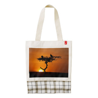 Sunrise at the Masai Mara, Kenya Zazzle HEART Tote Bag