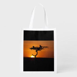Sunrise at the Masai Mara, Kenya Reusable Grocery Bag