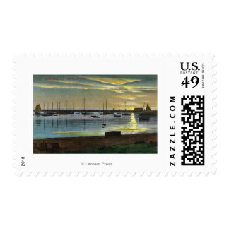 Sunrise at the Old Harbor Stamp