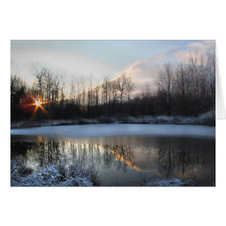 Sunrise at the Pond Card