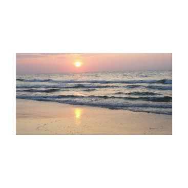 Beach Themed Sunrise at the sea canvas print