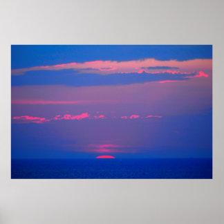 Sunrise at the sea to the Adria, Italia, Poster