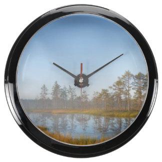 Sunrise at Viru Bog Estonia Aqua Clocks