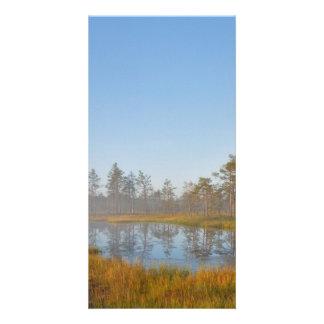 Sunrise at Viru Bog Estonia Photo Card Template