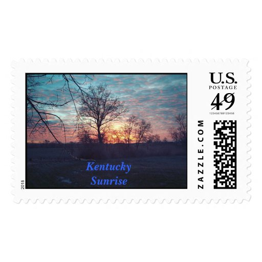 Sunrise at Waxing Moon Farm Postage Stamp