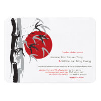 Sunrise Bamboo Garden Zen Wedding Invitation