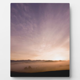 Sunrise Bavarian Wood Photo Plaque