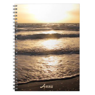 Sunrise Beach Ocean View Photo any Name Notebook