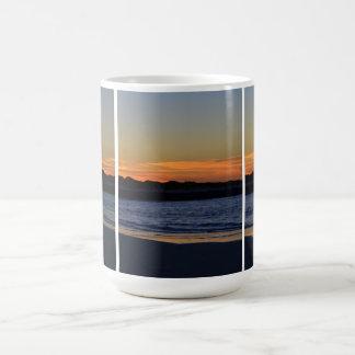 Sunrise Beach Scene Triptych Mug