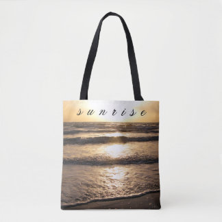 Sunrise Beach View Photo Tote Bag