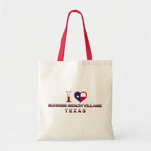 Sunrise Beach Village, Texas Canvas Bags