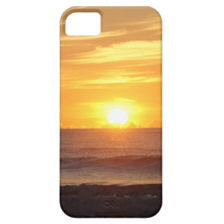 Sunrise beach waves color photograph iphone 5 case