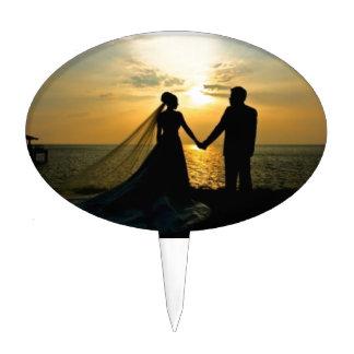 Sunrise Beach Wedding Cake Topper