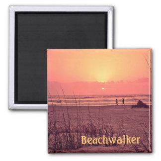 Sunrise Beachwalker 2 Inch Square Magnet
