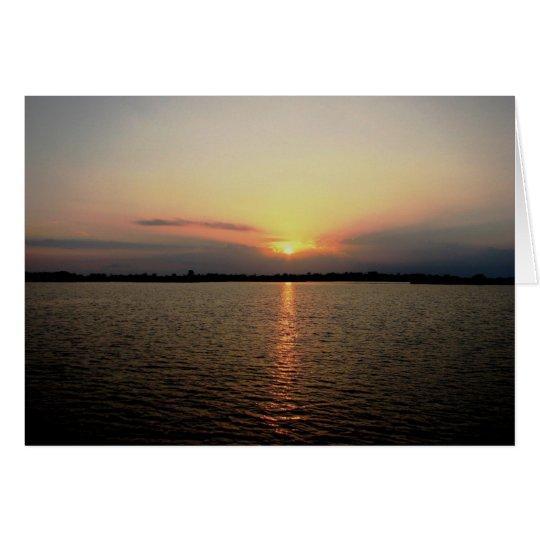 Sunrise, Bedford Cay, Belize Card