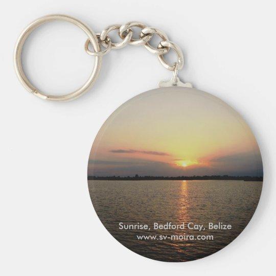 Sunrise, Bedford Cay, Belize Keychain