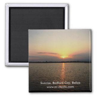 Sunrise, Bedford Cay, Belize Magnet