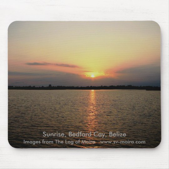 Sunrise, Bedford Cay, Belize Mouse Pad