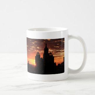 Sunrise behind Con Ed Clock Tower Union Sq NYC 001 Coffee Mug