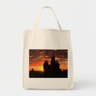 Sunrise behind Con Ed Clock Tower Union Sq NYC 001 Tote Bag