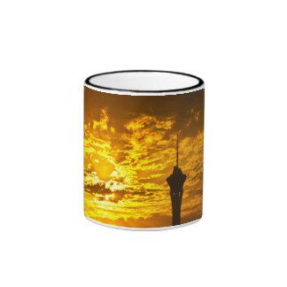Sunrise behind the Stratosphere Mug