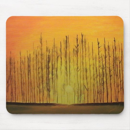 Sunrise Behind the Trees Mouse Pad
