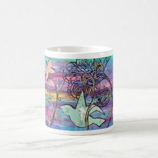 Sunrise Bird and Butterfly mug