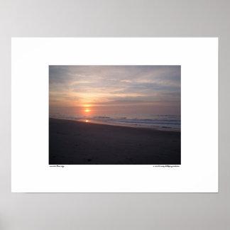 Sunrise Blue Sky Poster