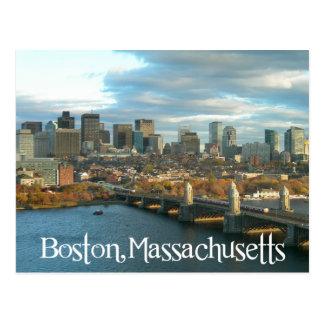 Sunrise Boston Massachusetts Skyline - USA Postcard