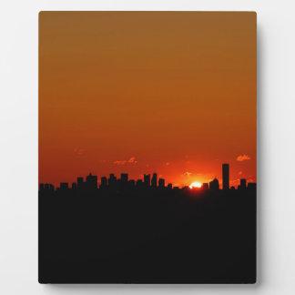 Sunrise Boston Morning Display Plaque