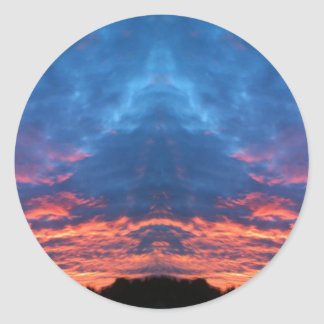 Sunrise Buddha Classic Round Sticker