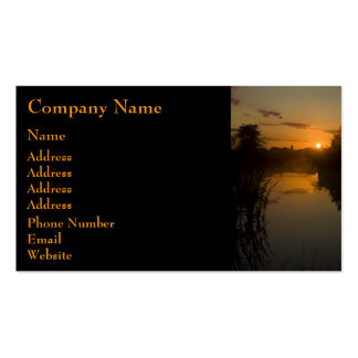 Sunrise by a lake Double-Sided standard business cards (Pack of 100)