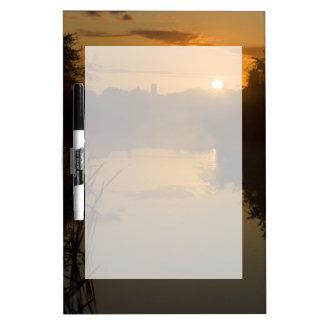 Sunrise by a lake Dry-Erase board