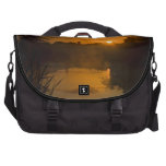 Sunrise by a lake laptop messenger bag