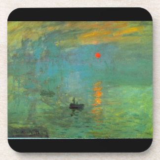 Sunrise by Claude Monet Drink Coasters