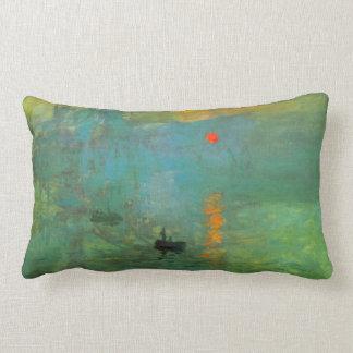 Sunrise by Claude Monet Lumbar Pillow