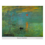 Sunrise by Claude Monet Poster