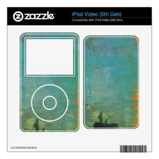 Sunrise by Claude Monet Skins For iPod Video