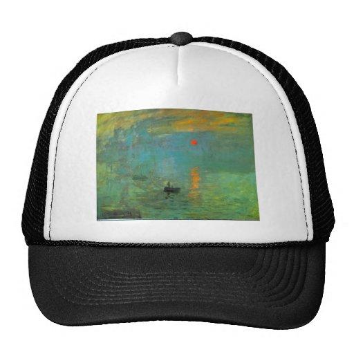 Sunrise by Claude Monet Trucker Hat
