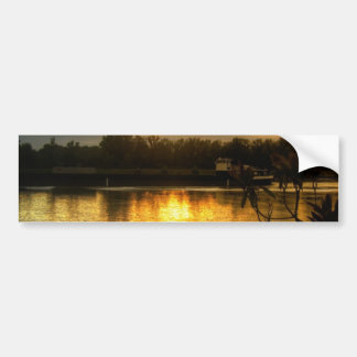 Sunrise by the Riverbank Car Bumper Sticker