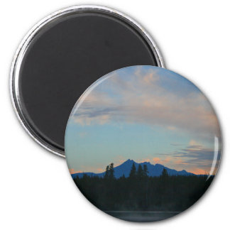 Sunrise Cascade Mountains Oregon Magnet