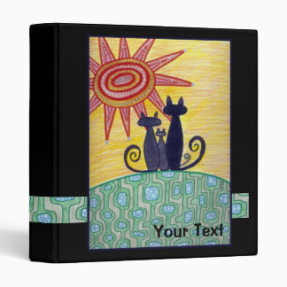 Sunrise Cats Art Binder