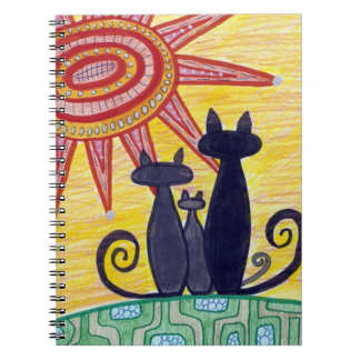 Sunrise Cats Original Artwork Notebook